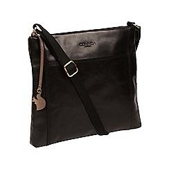 Conkca London - Black 'Lina' leather cross-body bag