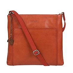 Conkca London - Burnt orange 'Lina' leather cross-body bag