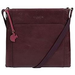 Conkca London Plum Lina Leather Cross Body Bag