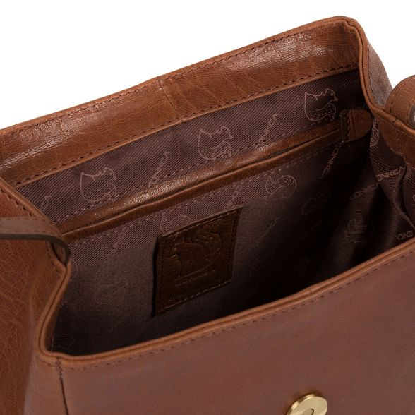 backpack Conkca leather handcrafted 'Simone' Conker London brown zzPxATw