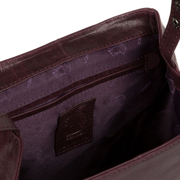 leather Conkca London backpack 'Simone' handcrafted Plum axfrYxnB