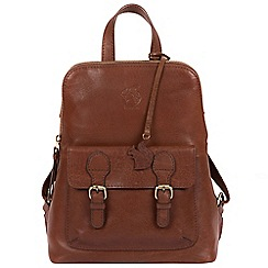 Conkca London Conker Brown Kendal Handcrafted Leather Backpack