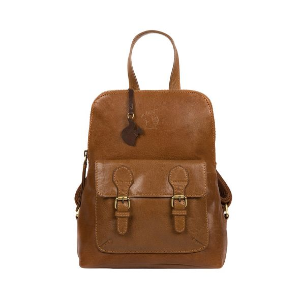 handcrafted 'Kendal' Dark Conkca tan London leather backpack nCqIISZ