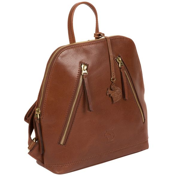'Zoe' handcrafted Conkca leather backpack Conker brown London qPzfwxtFg