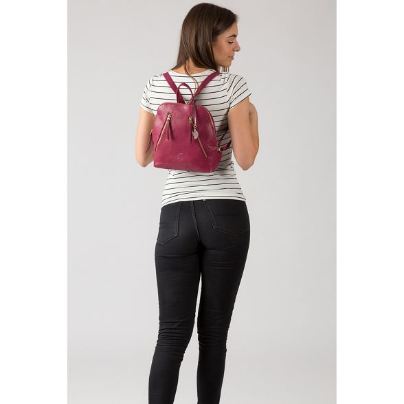 Orchid leather 'Zoe' London Conkca backpack handcrafted 8wqaPTI5