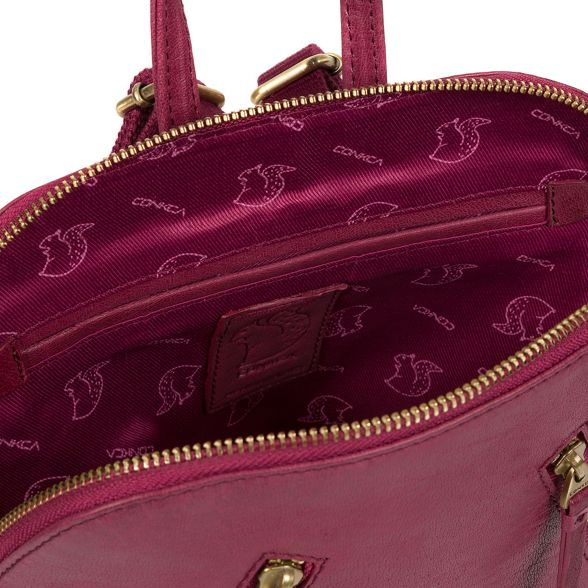 Conkca leather backpack London handcrafted 'Zoe' Orchid YxxwCaq1U