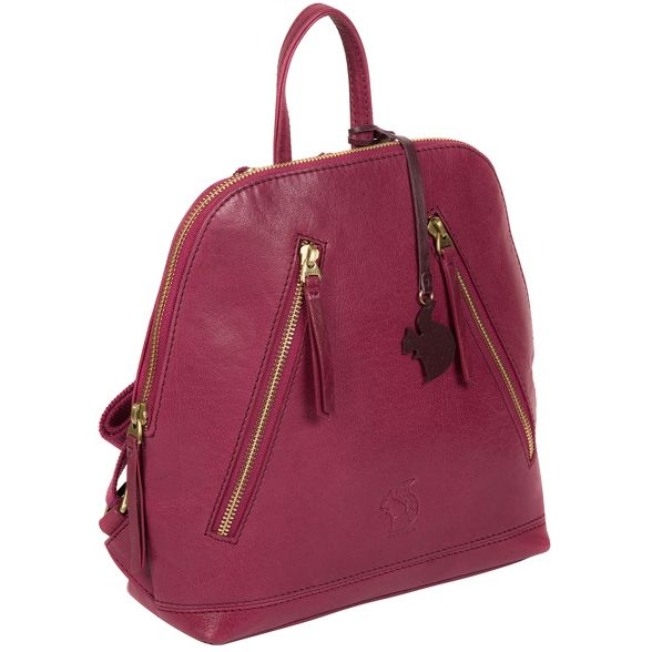 'Zoe' Conkca leather handcrafted London backpack Orchid ZExx4B6wq