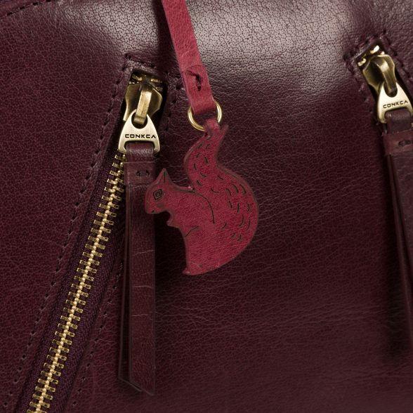 backpack Conkca handcrafted London leather 'Zoe' Plum rrqPfxgwXR
