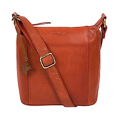 Conkca London Burnt Orange Yasmin Handcrafted Leather Cross Body Bag