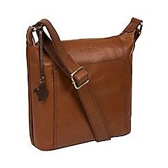 Conkca London - Conker brown 'Yasmin' leather cross-body bag