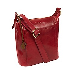 Conkca London Chilli Pepper Yasmin Handcrafted Leather Cross Body Bag