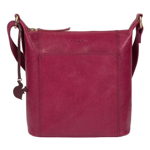 leather 'Yasmin' cross bag London body Conkca Orchid xHTtOwZqFP