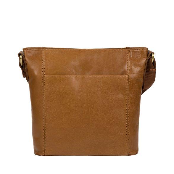 leather handcrafted 'Vonda' bag cross body Dark London tan Conkca wSqIOXI