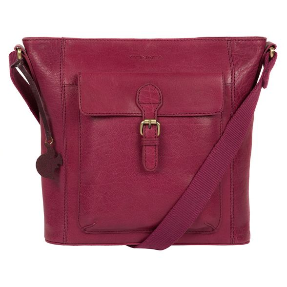 cross body Orchid leather 'Vonda' handcrafted London bag Conkca Hfq4XX
