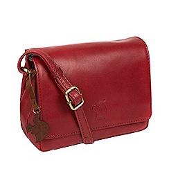 Conkca London - Chilli pepper 'Marta' leather cross-body bag