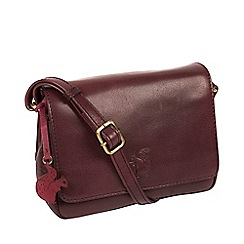 Conkca London - Plum 'Marta' handcrafted leather cross-body bag