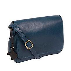 Conkca London - Snorkel blue 'Marta' leather cross-body bag