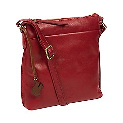 7849a7d1a9 Conkca London - Chilli pepper  Nikita  leather cross-body bag