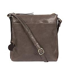 Conkca London Slate Nikita Leather Cross Body Bag