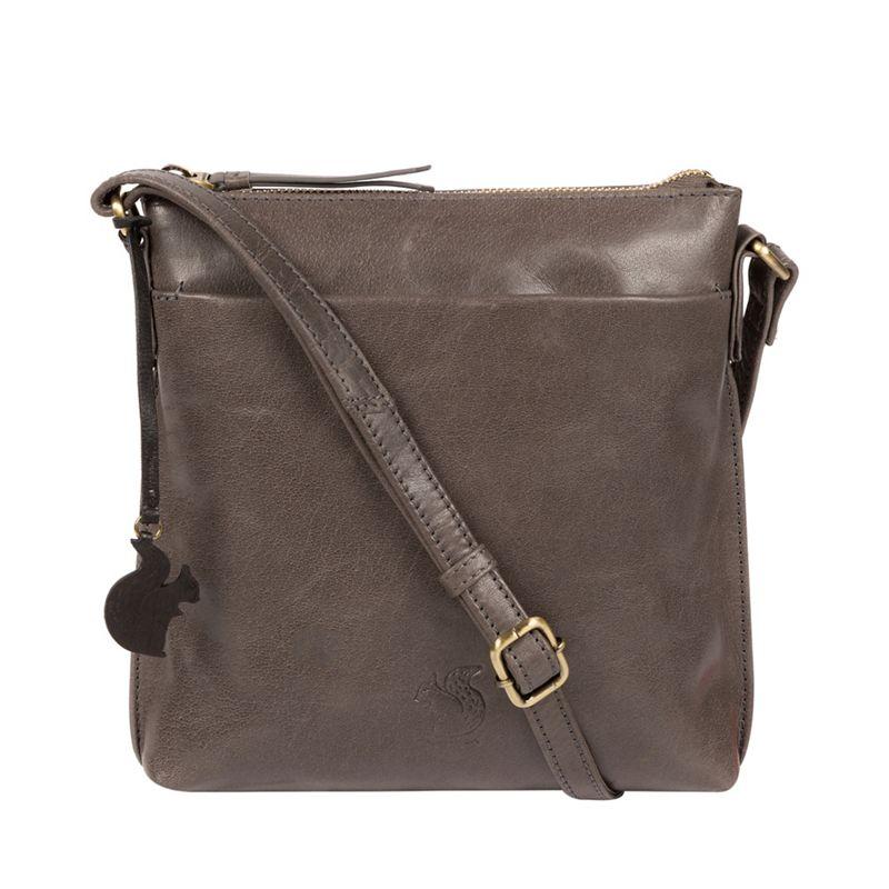Conkca London - Slate Nikita Leather Cross-Body Bag