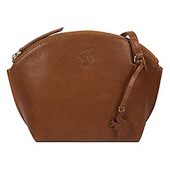 Conkca London - Dark Tan 'Wym' handcrafted leather cross-body bag