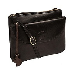 Conkca London - Black 'Tillie' leather cross-body bag
