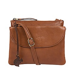Conkca London - Conker Brown  Tillie  Leather Cross-Body Bag a168253efe