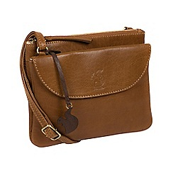 Conkca London - Dark Tan 'Tillie' leather cross-body bag