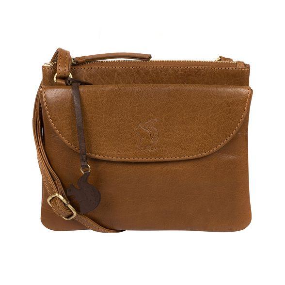 Conkca Tan cross bag London leather body Dark 'Tillie' Pr6Pxpq