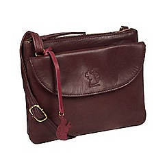 Conkca London - Plum  Tillie  leather cross-body bag 3c056d7b8606e