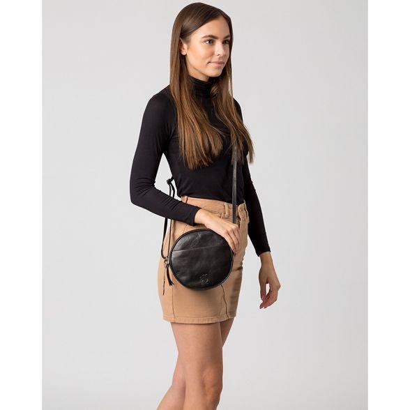 'Rolla' Conkca circular Black body London leather cross bag qExZgqrn