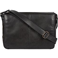 Conkca London - Black 'Leao' leather messenger bag