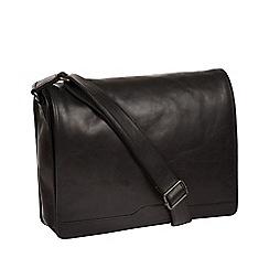 Conkca London - Black 'Zico' leather messenger bag
