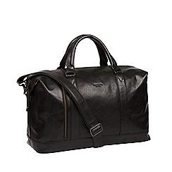 Conkca London - Black 'Rivellino' leather holdall