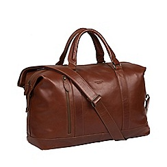 Conkca London - Conker brown 'Rivellino' leather holdall
