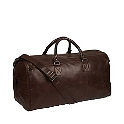 Conkca London - Dark brown  Edu  leather holdall a9d19148a0