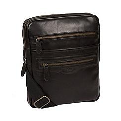 Conkca London - Black 'Jairizinho' leather despatch bag