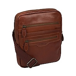 Conkca London - Conker brown  Jairizinho  leather despatch bag c3a9ae74aa1a