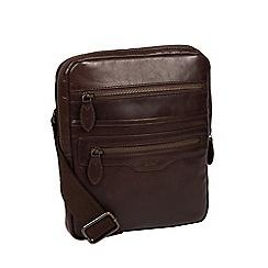 Conkca London - Dark brown 'Jairizinho' leather despatch bag