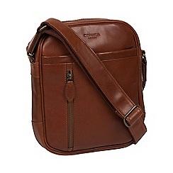 Conkca London - Conker brown 'Carlos' leather despatch bag