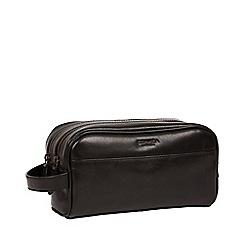 4e4aece5a7f4 Conkca London - Black  Alberto  Leather Washbag