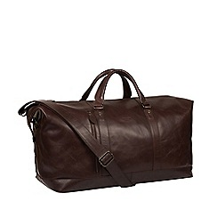 Conkca London - Dark Brown 'Gerson' Handcrafted Leather Holdall