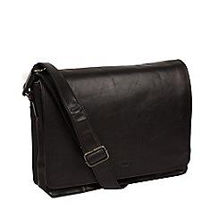 Conkca London - Black 'Zagallo' leather messenger bag