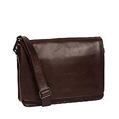 Conkca London - Dark brown 'Zagallo' leather messenger bag