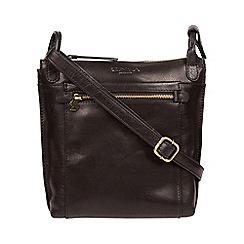 Conkca London Black Rego Leather Cross Body Bag
