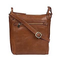 Conkca London - Conker brown 'Rego' leather cross-body bag