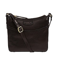 c8d59f82ef5b Conkca London - Black  Tamara  handcrafted leather cross-body bag