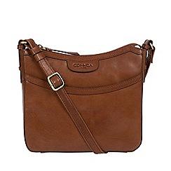 Conkca London - Conker brown 'Tamara' handcrafted leather cross-body bag