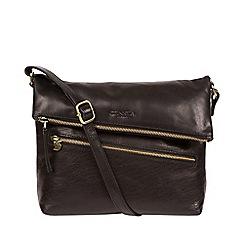 Conkca London - Black 'Marina' leather shoulder bag