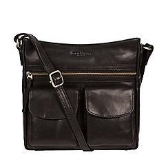 Conkca London - Black 'Bon' handcrafted leather cross-body bag